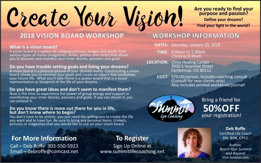 Vision Board Workshop Jan 2018
