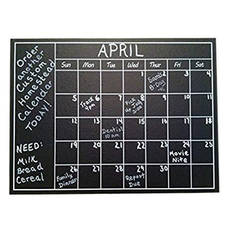 chalkboard calendar
