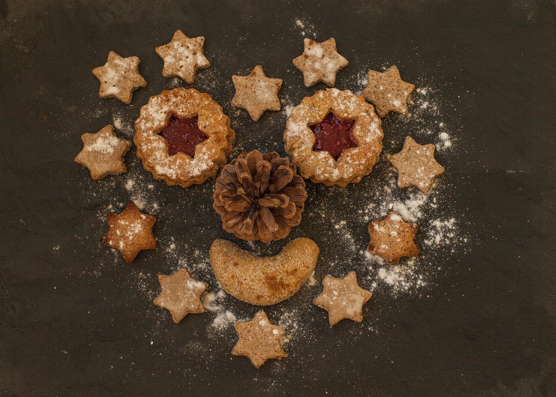 christmas cookies cookies food pastries