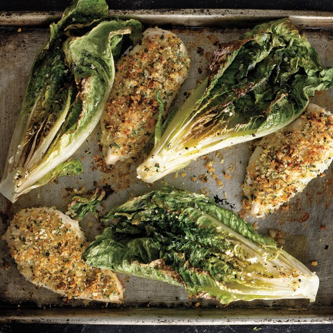 parmesan-chicken-with-caesar-roasted-romaine